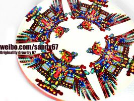 original design-dish-Painting-Eagle-67 by sandy67-Q