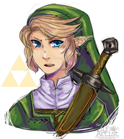 Um soooo this is Link by ScribbleWoof