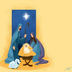 In a Manger by Sabinerich