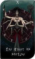 Daedra Tarot Cards - Mephala, The Wheel of Fortune by AredheelMahariel