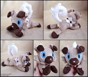 Rockruff Plush (Ver 2) by SewYouPlushieThings