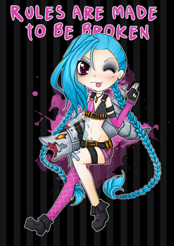 Chibi Jinx! - League of legends by linkitty