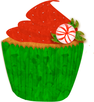 Christmas Cupcake Clip Art by Wisp-Stock