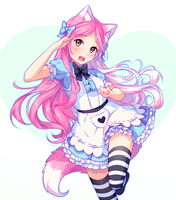 [+Video] Commission - Like a candy by Hyanna-Natsu