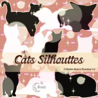 Cats Silhouettes Brushes by Coby17