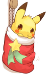 Christmas pikachu by The-pink-Vodka