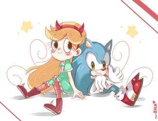 Star vs Sonic forces of evil by chibiirose