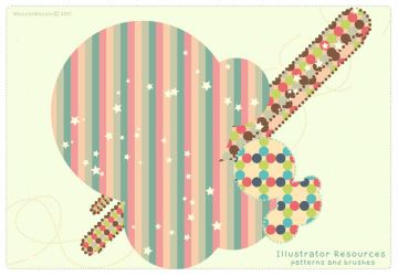 Dotted Brushes and Patterns AI by MocchiMocchi