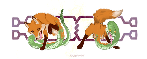 Foxes and Snakes by Rikkoshaye