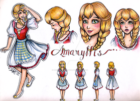 Disney Character: Amaryllis by BreathlessDragon