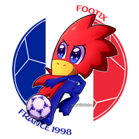 [World Cup Mascots] - Footix by KawaiiRebichan