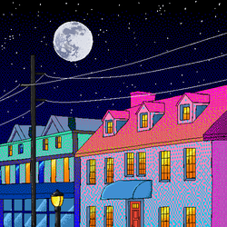 blue n pink house by NYANiXXX