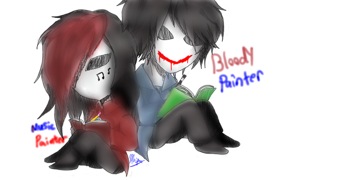 bloody painter /music painter by Mazsliver