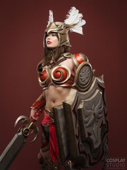 The Dawn has arrived! - Valkyrie Leona Cosplay by TineMarieRiis