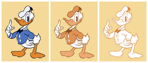 Donald Duck inking practise by Henrieke