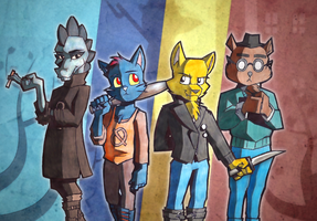 Night in the Woods Characters by gilamasan