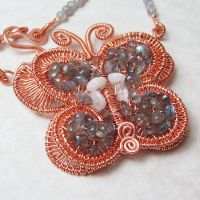 Woven Butterfly Necklace by Gailavira