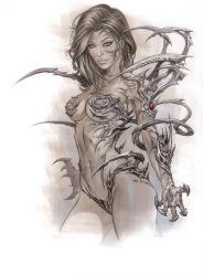 WitchBlade in Copic Marker by me eBas by ebas