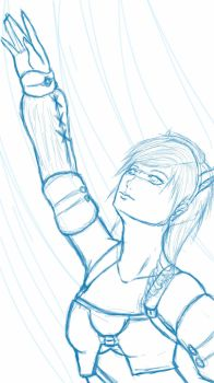 Lightning Sketchthis by HeartOTheCresentMoon