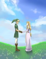 Link and Zelda by glance-reviver
