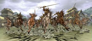 The Charge of the Samurai by daxiong