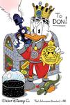 Scrooge with trophies