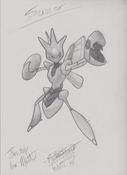 Scizor Battle Stance by MrFalloutDropout