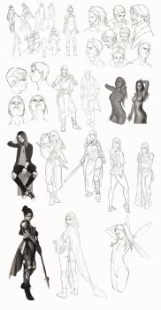 Sketchy sketches compilation by mannequin-atelier