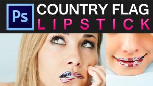 Photoshop Country Flag onto Lips Video Tutorial by ShindaTravis