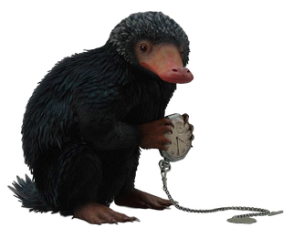 Fantastic Beasts Niffler - Transparent Background! by Camo-Flauge
