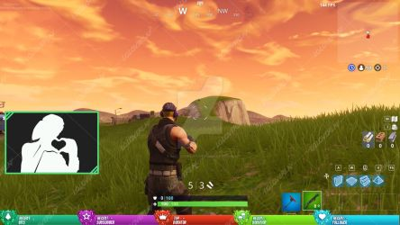 LvL 100 Fortnite - Stream  Overlay by lol0verlay