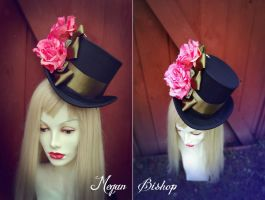 Pink x Olive Floral Top Hat by apatico