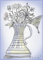 Vase with Flowering Plants by steeber