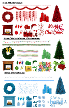 Design Your Own Christmas Png Renders by Riogirl9909stock
