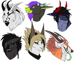 busts for some awesome people by Emikuma