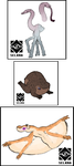 Animals from Planet Tawoax by Selkra