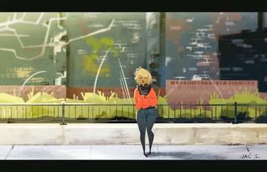 City Sidewalk by Splendoodle