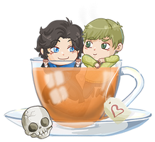 Battery Johnlock tea by Fufunha