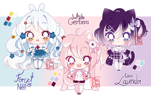 [CLOSED] ADOPT AUCTION - Flowers + Animals by MiiaChuu