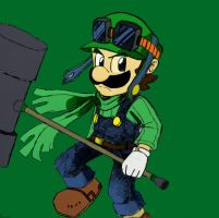 COLORED LUIGI by JONATELLODRAWER