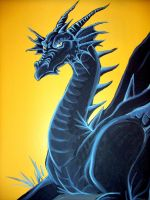 Dragon mural close up by lady-cybercat