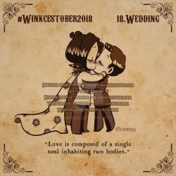 Winkcestober day 18: Wedding by KamiDiox
