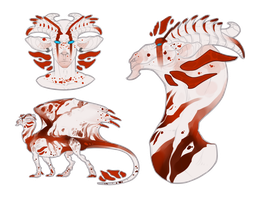 Dragon design - SOLD! by MissChrysaalis