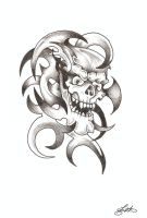 Tribal Skull by TheLob