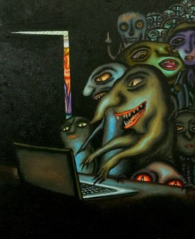 Hackers and trolls by marcelflisiuk