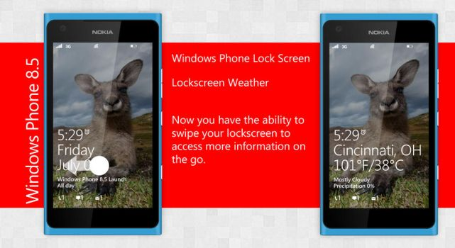 6. Windows Phone 8.5 Live Lockscreen by ShadyLaneDesigns
