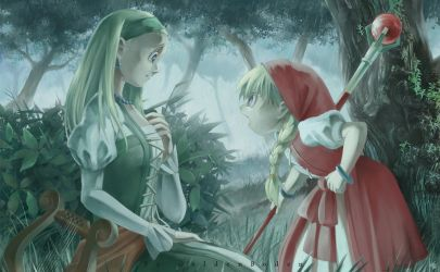 Veronica and Serena by GoldenBoden