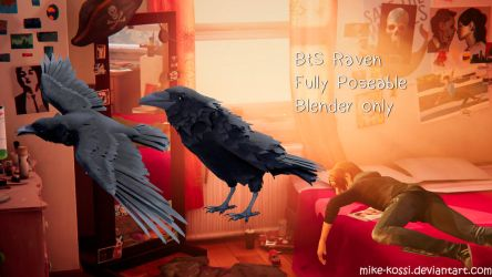 BtS Ravens flying and standing blender by Mike-Kossi