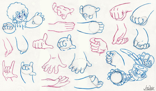 Inktober - Wolkhar Hand Practice by The-Quill-Warrior