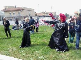 Axel and Roxas (romics 2015) by Laurabiersack